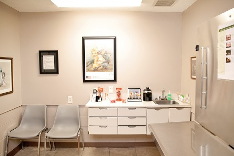 One of the exam rooms